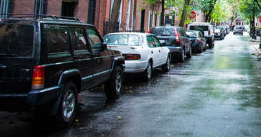 Cars parked on Residential St., Greenwich Village, New York City