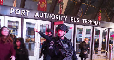 NYPD ESU/SRG officers respond to an Explosion at the Port Authority on 42nd Street and 8th Ave in Manhattan, on December 11, 2017.