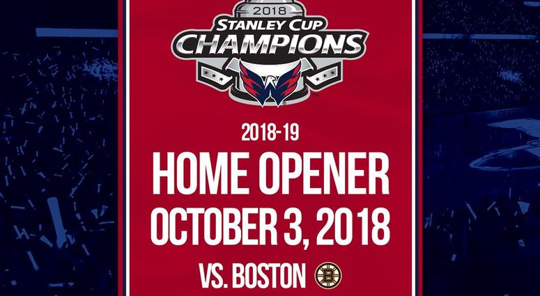 Capitals to hang 2018 championship banner on Oct. 3  a50bfe8a629