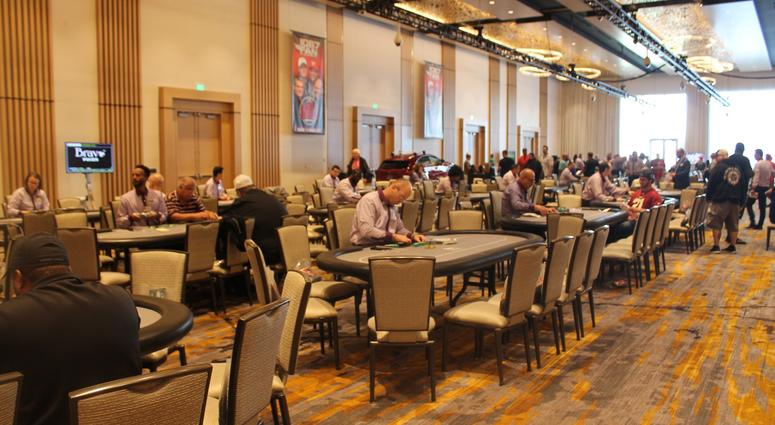106.7 The Fan's Street Team interacted with listeners at The Sports Junkies Poker Open held at the MGM National Harbor.