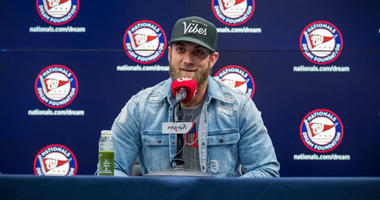 Nats-Phillies: Bryce Harper Press Conference (Watch)