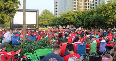 Capitals Playoff Viewing Party - 5 11 18. 106.7 the Fan joins Capitals fans  ... fae26b9ed7c2