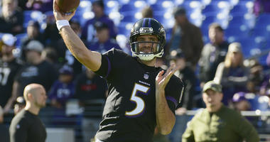"Harbaugh: Injured Flacco ""Does Not Have to Practice to Play"" Against Bengals"