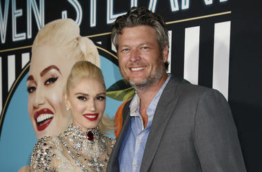 """Gwen Stefani and Blake Shelton arrive on the red carpet for her grand opening of """"Gwen Stefani Just a Girl"""" residency show at Planet Hollywood Resort and Casino on Wednesday, June 27, 2017, in Las Vegas, Nevada."""