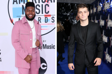 Khalid at the 2018 American Music Awards at the Microsoft Theatre on October 9, 2018 in Los Angeles, California. / Martin Garrix attends The Global Awards, a brand new awards show hosted by Global, the Media & Entertainment group, at London's Eventim Apol