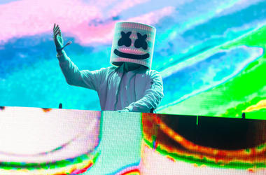 Marshmello during Bonnaroo Music and Arts Festival at Great Stage Park on June 10, 2017, in Manchester, Tennessee