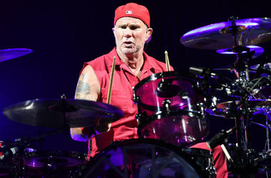 Chad Smith of Red Hot Chili Peppers performs at American Airlines Arena