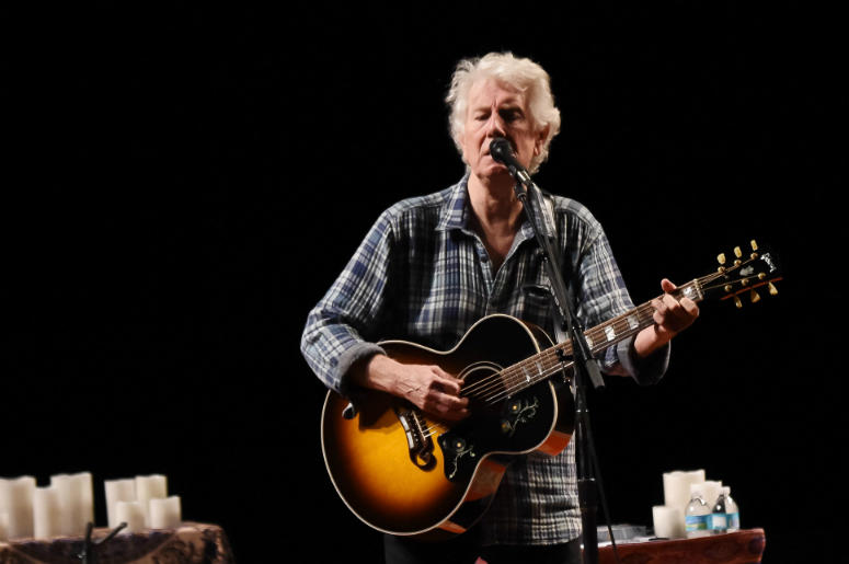 Graham Nash during a sound check prior to his performance at the Parker Playhouse.