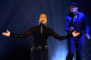 Sade performs at the MGM Grand Garden Arena September 3, 2011 in Las Vegas, Nevada.