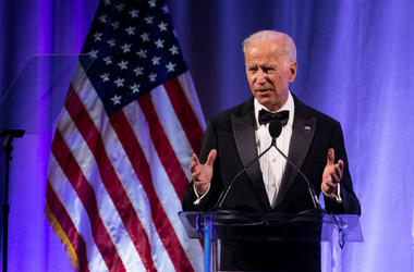 Former U.S. Vice President Joe Biden delivers remarks during the National Minority Quality Forum on April 9, 2019 in Washington, DC. Biden was awarded the lifetime achievement award from the National Minority Quality Forum summit on Health disparities.