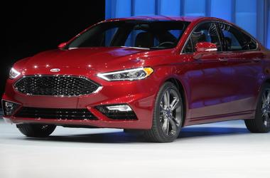 2017 red Ford Fusion