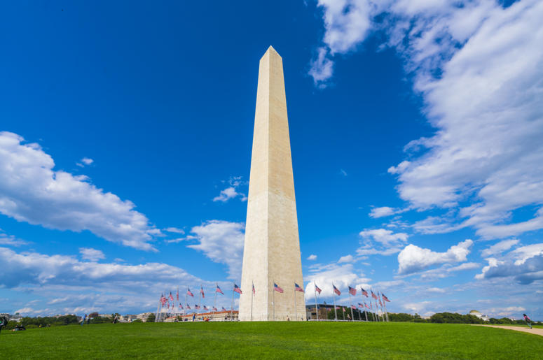 Washington Monument on a sunny day