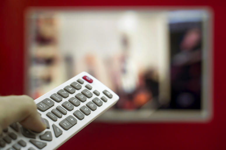 Television remote changing channel