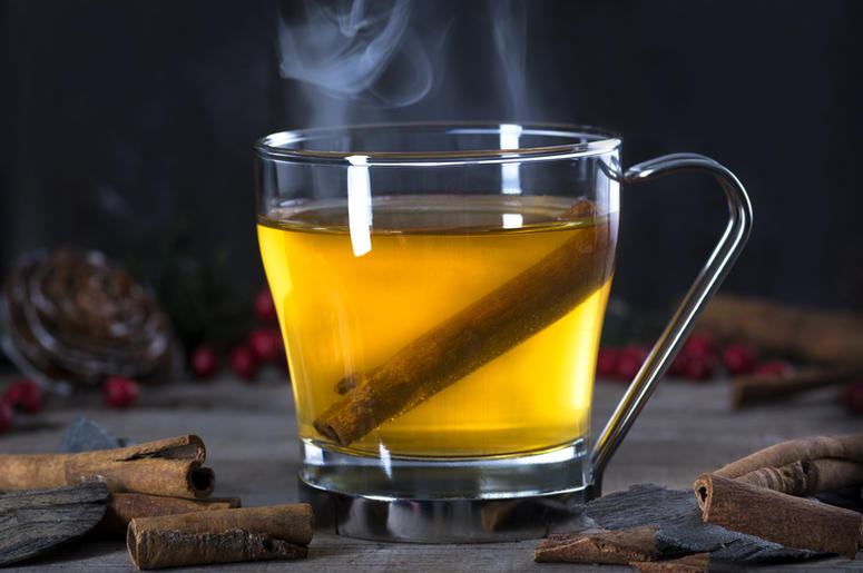 steam rising off of a warm cocktail