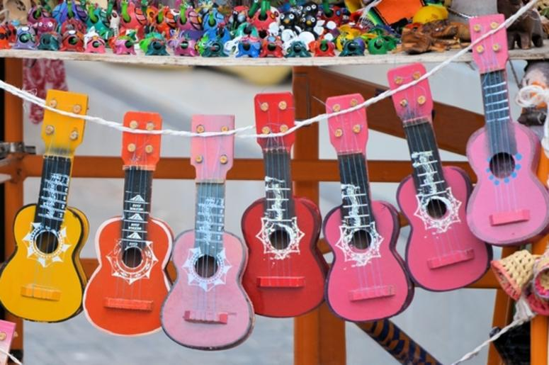 colorful guitars in Mexico