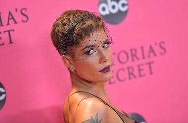 Halsey attends the 2018 Victoria's Secret Fashion Show at Pier 94 on November 08, 2018 in New York City