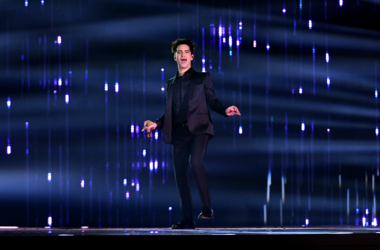 Brendon Urie of Panic! at the Disco performs on stage at the MTV Europe Music Awards 2018