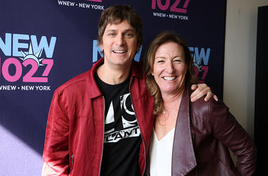 Rob Thomas with Karen Carson at WNEW in NYC