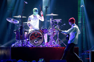 Tyler Joseph and Josh Dun of Twenty One Pilots