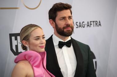 John Krasinski & Emily Blunt at the SAG Awards
