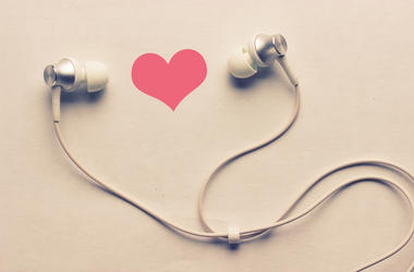Headphones with a heart