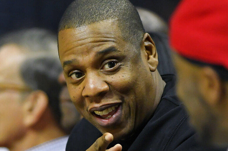 In this Dec. 7, 2016 file photo, rapper Jay-Z appears at a NBA basketball game between the Los Angeles Clippers and the Golden State Warriors in Los Angeles. Jay-Z will help re-open the newly renovated Webster Hall concert venue in New York City with a p