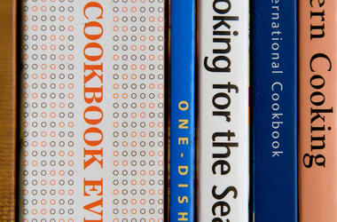 cookbook spines