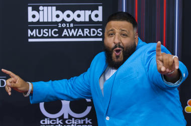 DJ Khaled walking on the red carpet at the 2018 Billboard Music Awards held at The MGM Grand Garden Arena on May 20, 2018 in Las Vegas, NV.