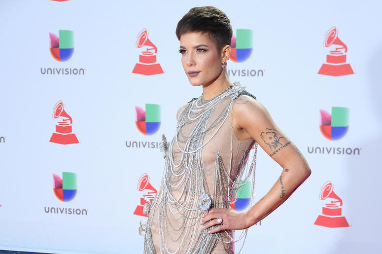 Halsey attends the 19th annual Latin GRAMMY Awards at MGM Grand Garden Arena