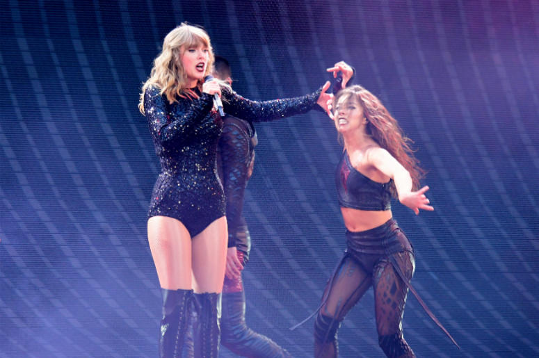 6/22/2018 - Taylor Swift performing on stage during the Reputation Stadium Tour at Wembley Stadium Olympic Way, Wembley, London.