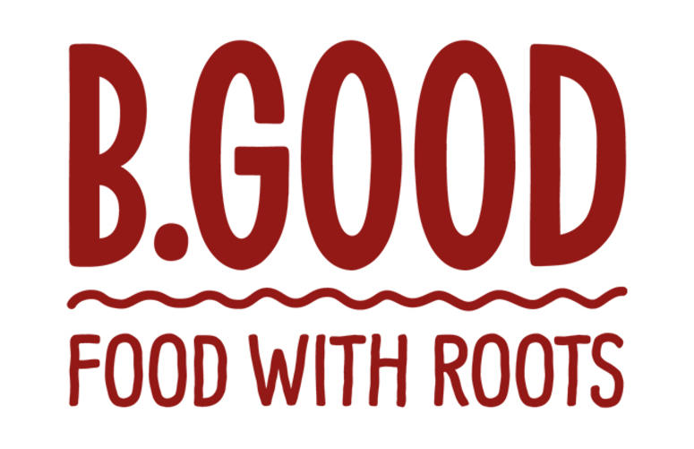 B Good Logo Food With Roots