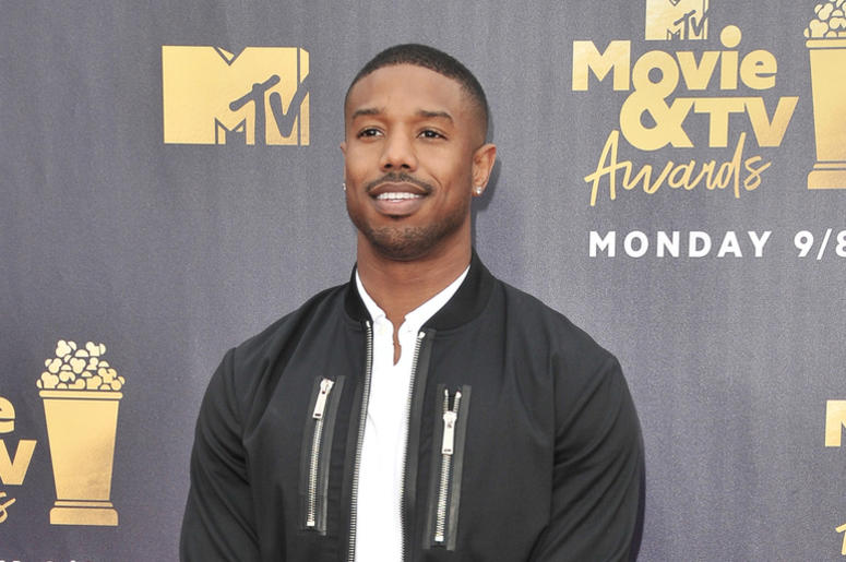 Michael B. Jordan at the 2018 MTV Movie And TV Awards held at Barker Hangar on June 16, 2018 in Santa Monica, CA, USA