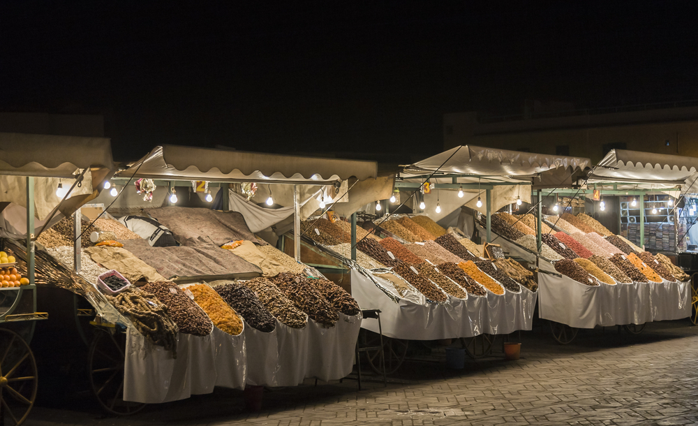 Night market in Jemaa el-Fnaa, Medina of Marrakesh_300649835
