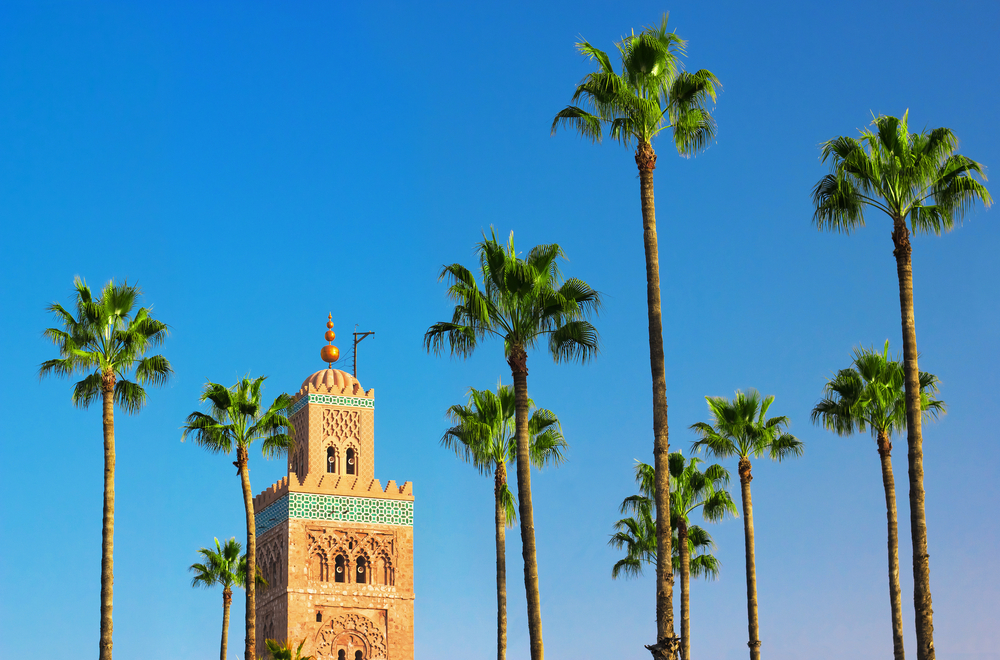 Koutoubia Mosque minaret in Marrakech_154266389