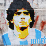 Diego maradona graffiti_158658101