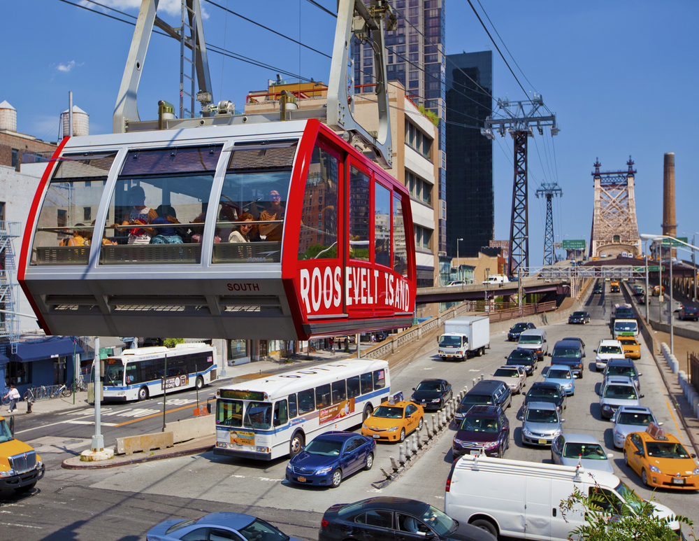 Roosevelt Island cable tram car_148326911