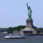 Statue Cruise Ferries returning to Manhattan_308620229