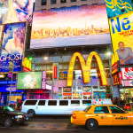 Times Square, featured with Broadway Theaters and animated LED signs_125297672