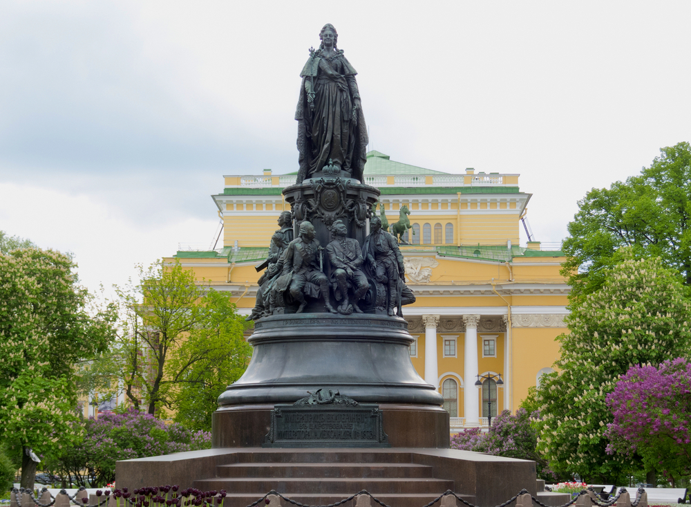 monument for Catherine II (the Great) at Ostrovsky Square_364821614