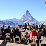 Tourist taking view of Matterhorn_376485646