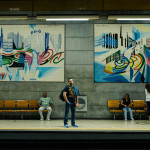 metro at an underground station in Lisbon_189786053