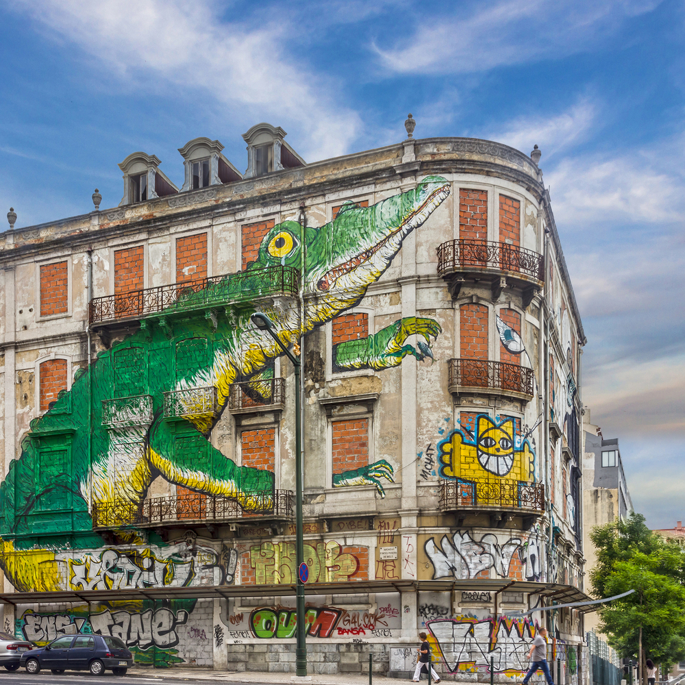 graffiti green crocodile_235732255