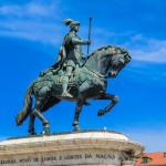 Equestrian statue of King John I in the Praca da Figueira_316547630