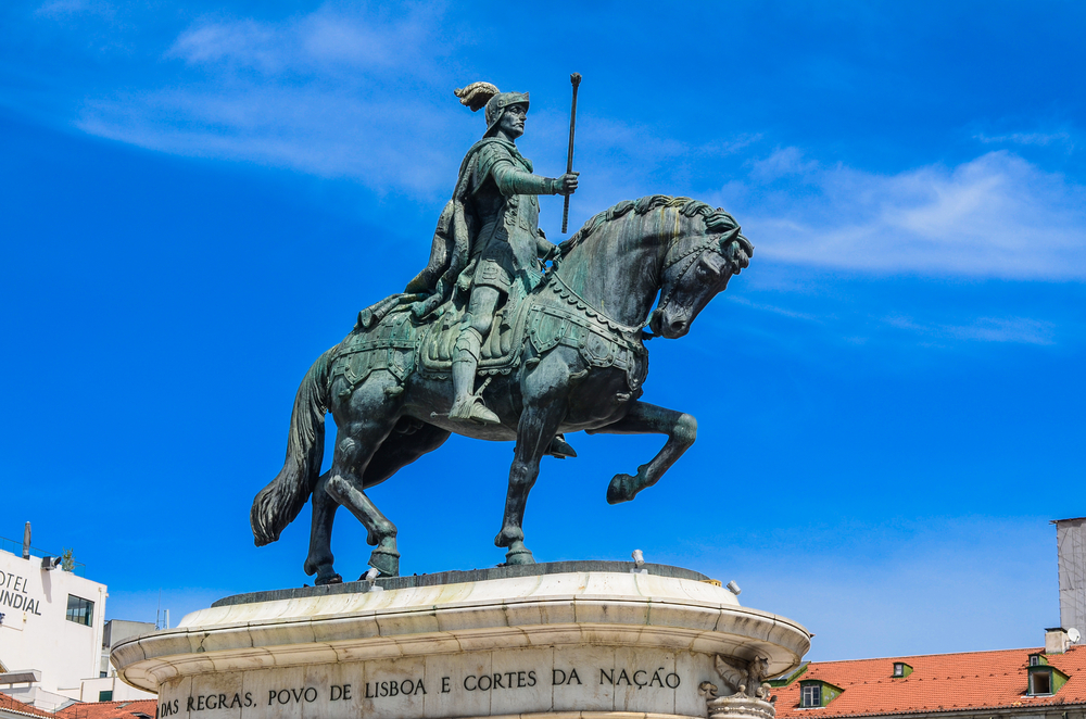 Equestrian statue of King John I in the Praca da Figueira_316547630