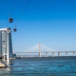 Vasco da Gama Bridge and Myriad Hotel_304802627