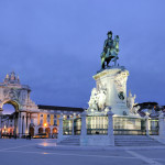 Praca do Comercio or Commerce Square is located in the city of Lisbon_120302569