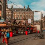 Street fun fair in the center of Amsterdam_341659538