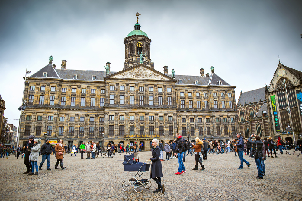 Royal Palace at the Dam Square_385491655