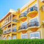 Modern apartment buildings in Playa Del Carmen_339980711