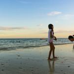 beach at sunset beach of Playa del Carmen_382410055